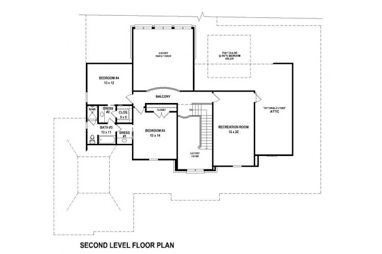 Classic House Plan -  97092 - 2nd Floor Plan