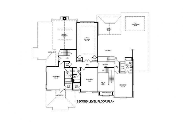 Southern House Plan -  97113 - 2nd Floor Plan