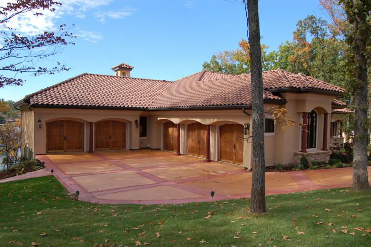 Tuscan House Plan -  97125 - Left Exterior