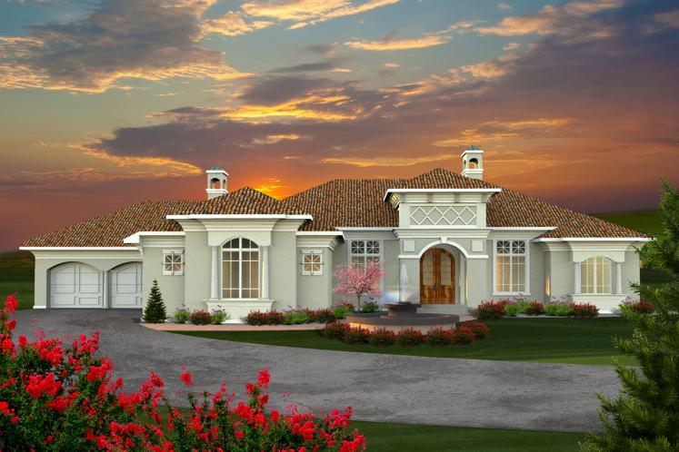 Tuscan House Plan -  97125 - Front Exterior