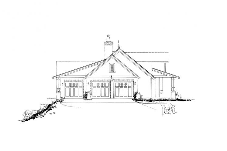 Country House Plan - Meadowlark 97179 - Left Exterior