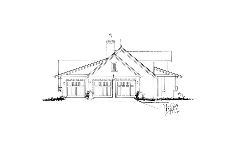 Traditional House Plan - Meadowlark 97179 - Left Exterior