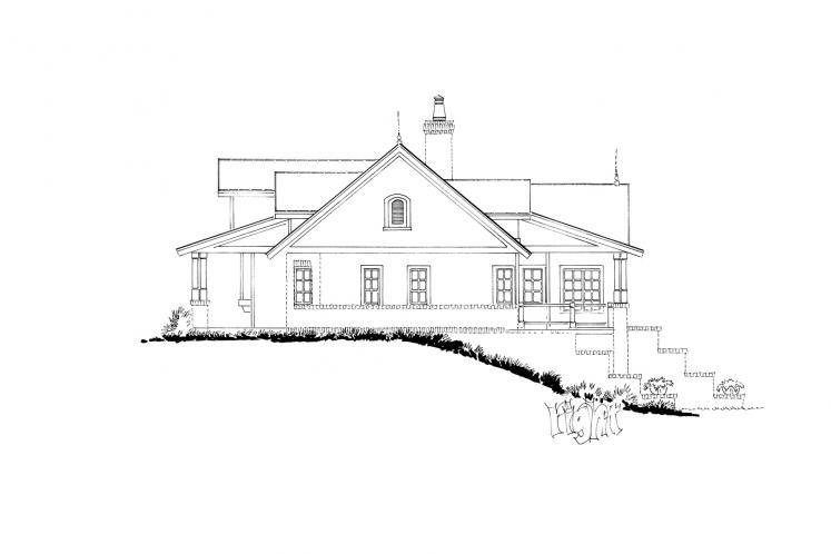 Country House Plan - Meadowlark 97179 - Right Exterior