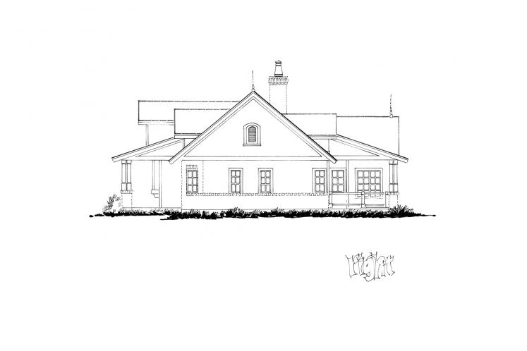 Traditional House Plan - Meadowlark 97179 - Right Exterior
