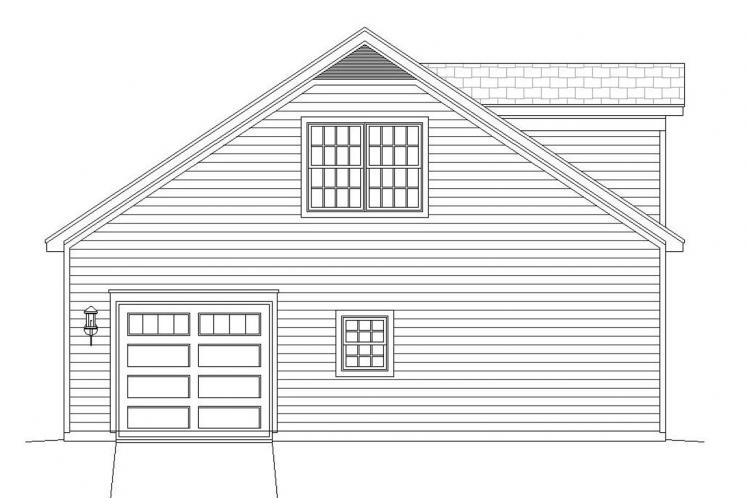 Traditional Garage Plan -  97290 - Left Exterior
