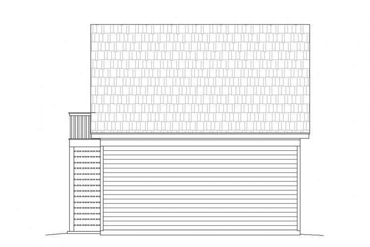 Country Garage Plan -  97290 - Rear Exterior