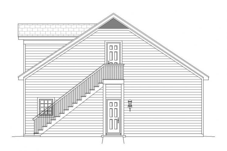 Country Garage Plan -  97290 - Right Exterior