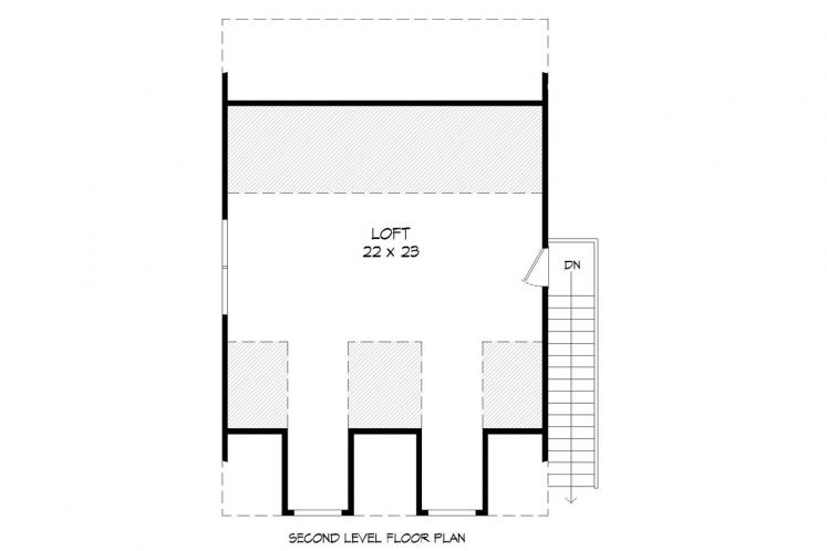 Country Garage Plan -  97290 - 2nd Floor Plan