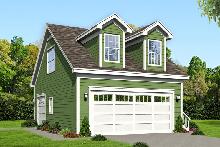 Traditional Garage Plan -  97290 - Front Exterior
