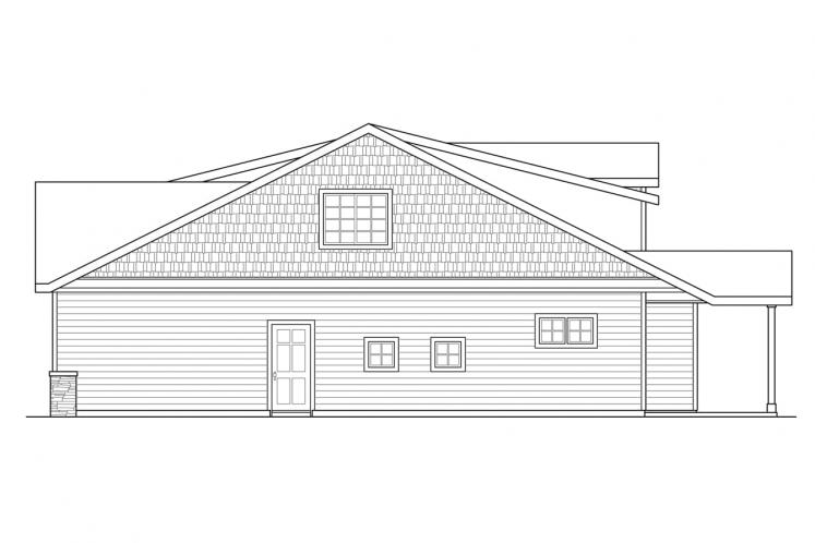 Cottage House Plan - Shasta 97343 - Right Exterior