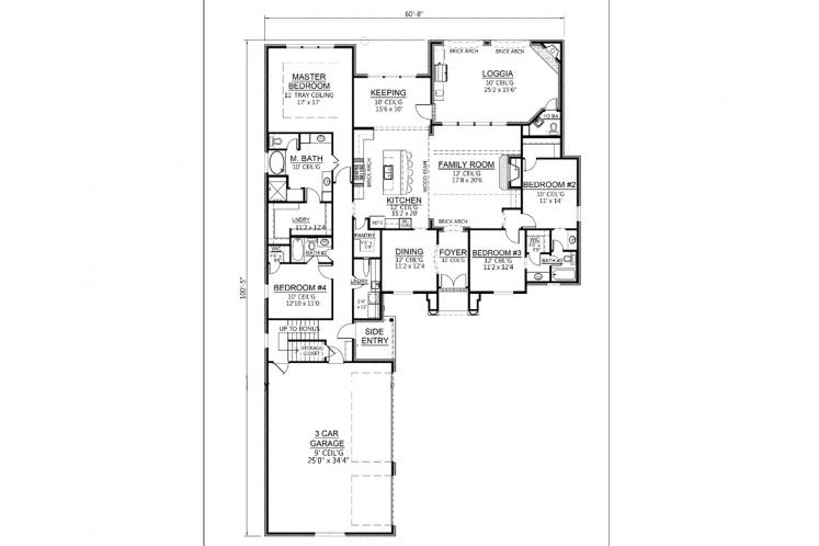 Classic House Plan - Carriagewood 97345 - 1st Floor Plan