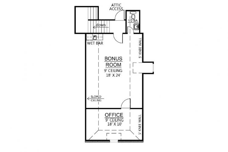 Southern House Plan - Carriagewood 97345 - 2nd Floor Plan