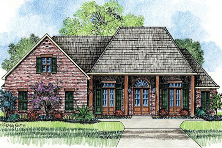 Classic House Plan - Creole 97458 - Front Exterior