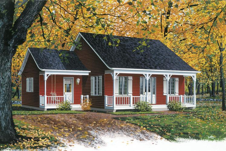 Cottage House Plan - Inland Cottage 97465 - Front Exterior
