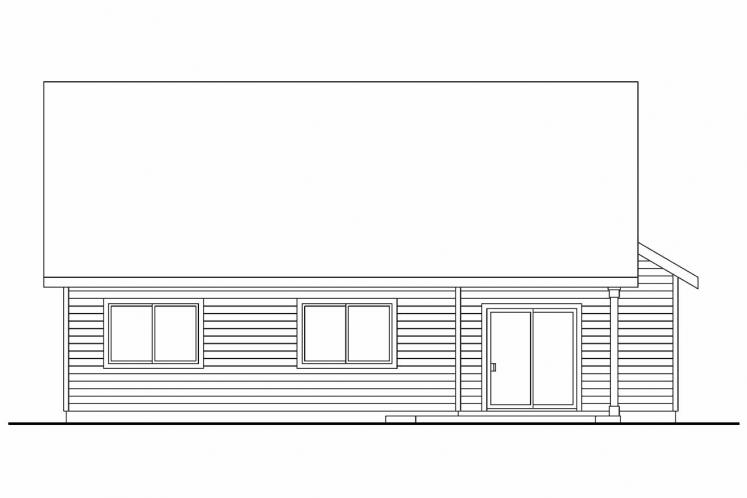 Bungalow House Plan - Holshire 97507 - Rear Exterior