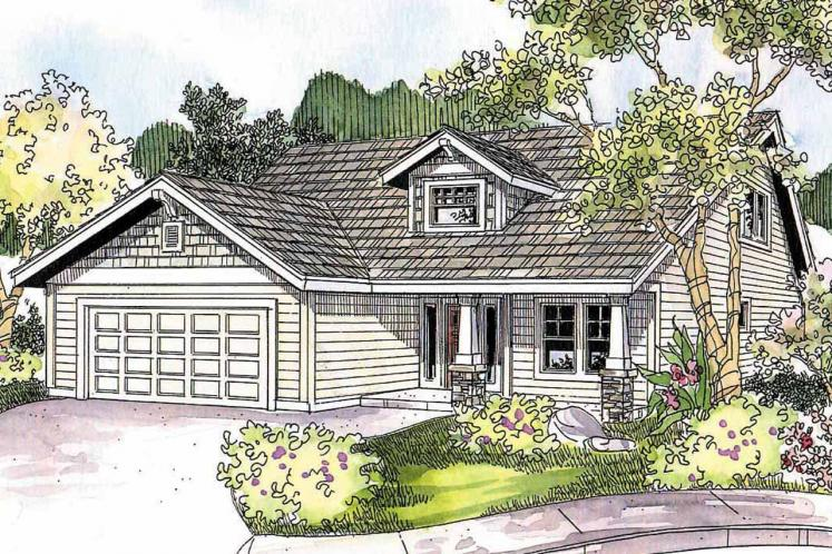 Craftsman House Plan - Holshire 97507 - Front Exterior