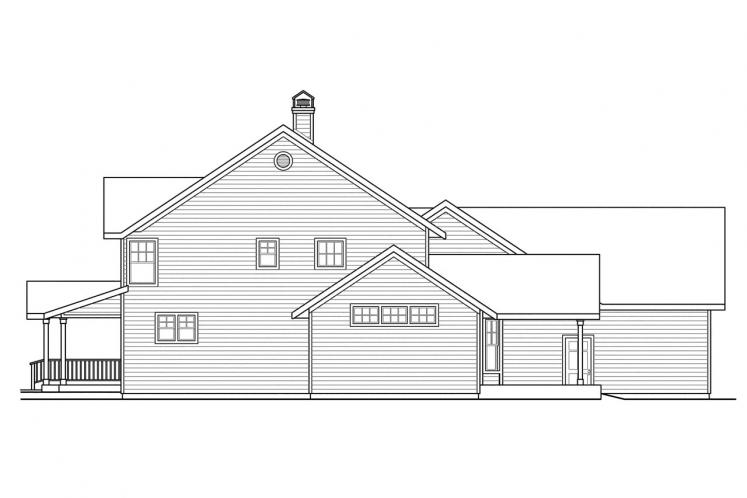 Country House Plan - Ambrosia 97538 - Right Exterior