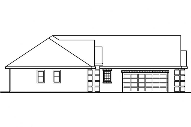 European House Plan - Willcox 97573 - Left Exterior