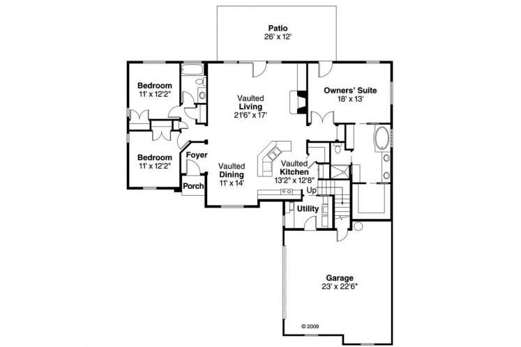 Contemporary House Plan - Willcox 97573 - 1st Floor Plan