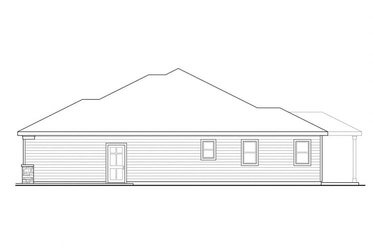Craftsman House Plan - Whittaker 97720 - Right Exterior