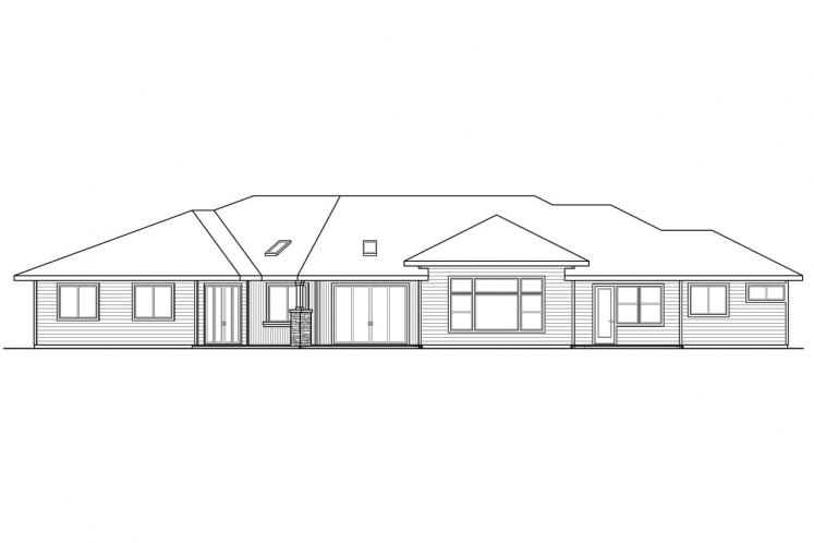 Ranch House Plan - Laurelhurst 47347 - Rear Exterior