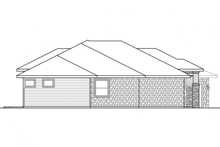 Prairie House Plan - Laurelhurst 47347 - Left Exterior