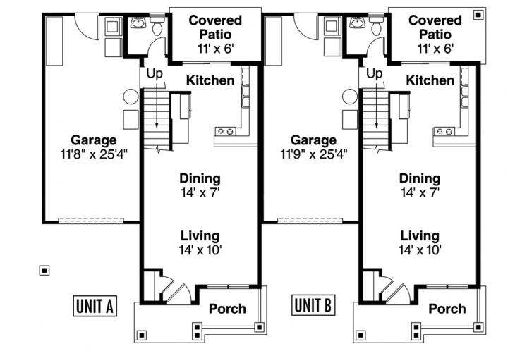 Cottage Multi-family Plan - Cranbrook 97797 - 1st Floor Plan
