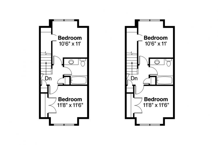 Country Multi-family Plan - Cranbrook 97797 - 2nd Floor Plan