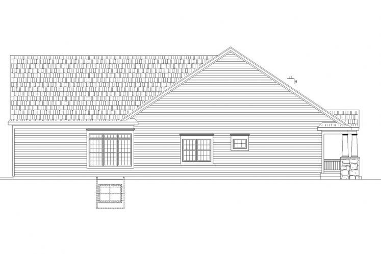 Traditional House Plan - Finley Acres 97823 - Left Exterior