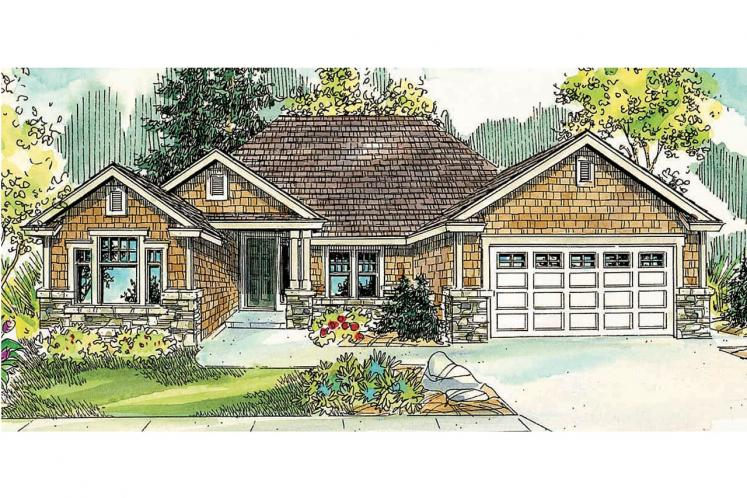 Craftsman House Plan - Ridgefield 97930 - Front Exterior
