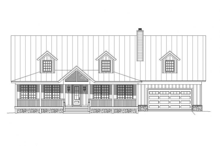 Country House Plan - South Shore 97939 - Front Exterior