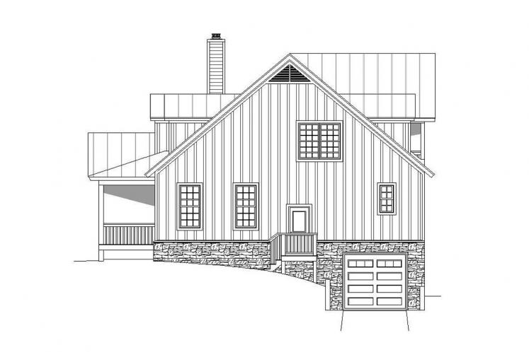 Country House Plan - South Shore 97939 - Right Exterior