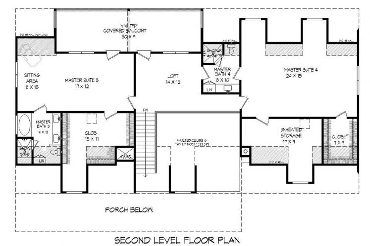 Country House Plan - South Shore 97939 - 2nd Floor Plan