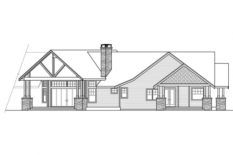 Country House Plan - Petaluma 98069 - Rear Exterior