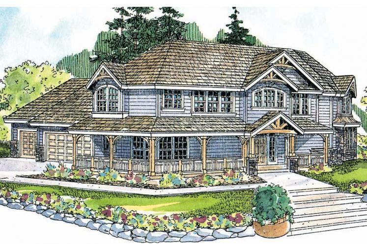 Country House Plan - Rutherford 98090 - Front Exterior