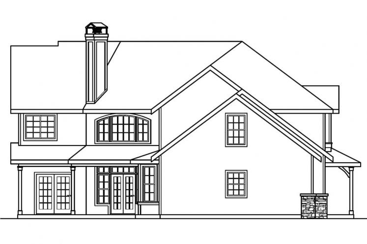 Craftsman House Plan - Rutherford 98090 - Left Exterior