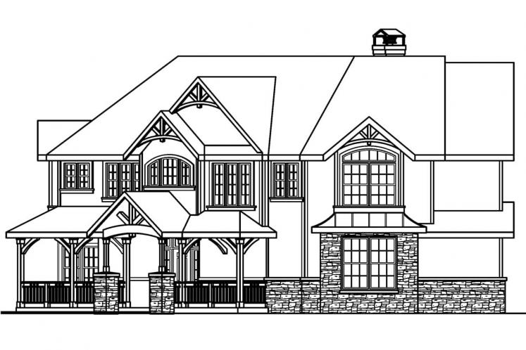Country House Plan - Rutherford 98090 - Right Exterior