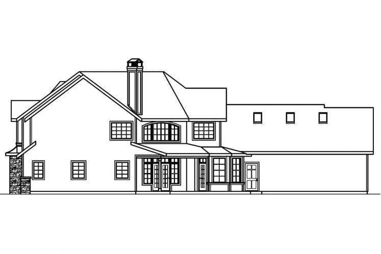 Lodge Style House Plan - Rutherford 98090 - Rear Exterior