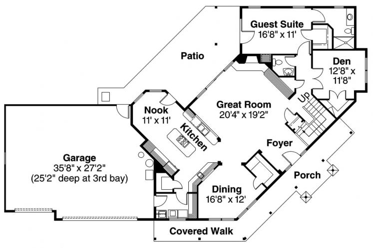 Lodge Style House Plan - Rutherford 98090 - 1st Floor Plan