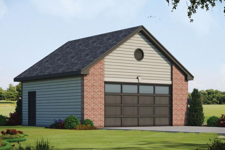 Traditional Garage Plan -  98145 - Front Exterior