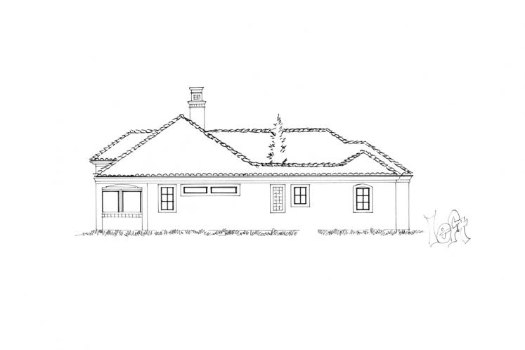 Spanish House Plan - Mariposa 98172 - Left Exterior