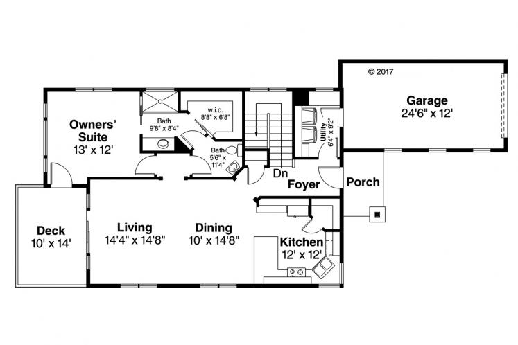 Country House Plan - Creekside 98208 - 1st Floor Plan