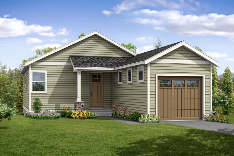 Country House Plan - Creekside 98208 - Front Exterior