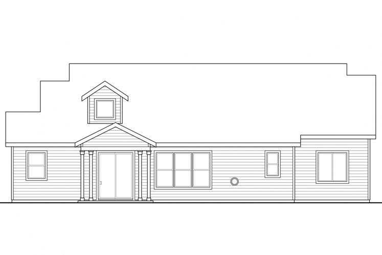 Bungalow House Plan - Azalea 98220 - Rear Exterior