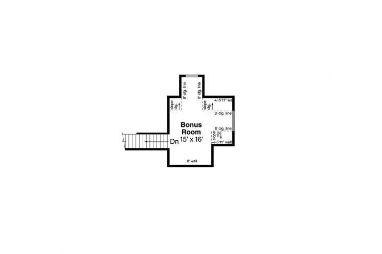 Ranch House Plan - Azalea 98220 - 2nd Floor Plan