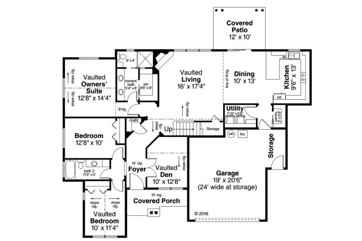 Bungalow House Plan - Azalea 98220 - 1st Floor Plan