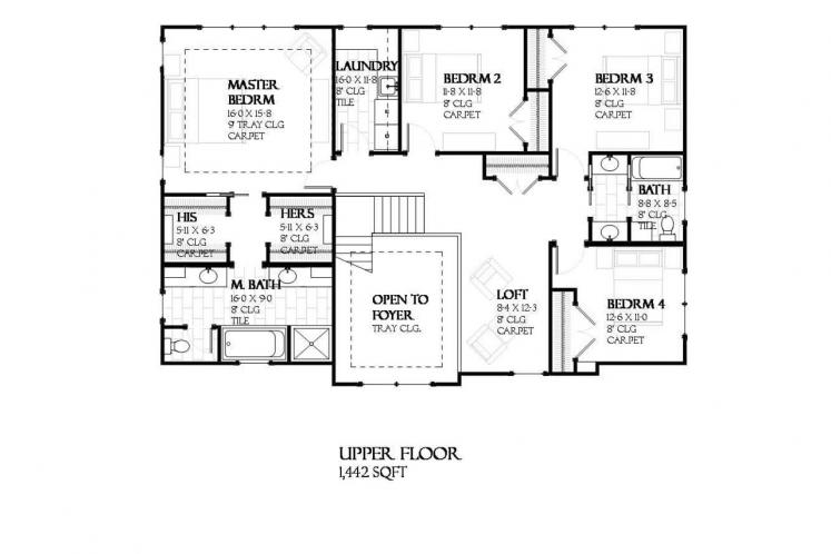 Traditional House Plan - Madison 98238 - 2nd Floor Plan