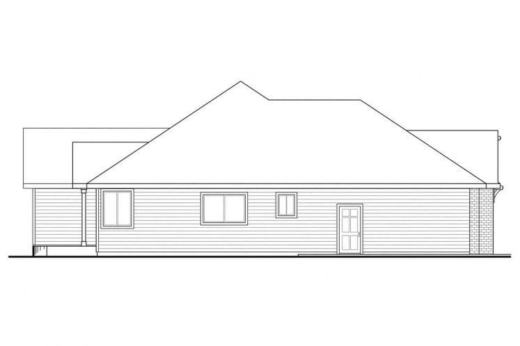 Traditional House Plan - Lupine 98252 - Left Exterior