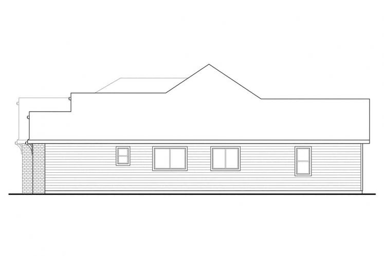 Southern House Plan - Lupine 98252 - Right Exterior