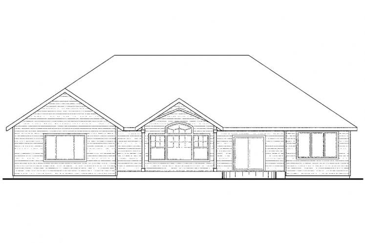 Classic House Plan - Lupine 98252 - Rear Exterior